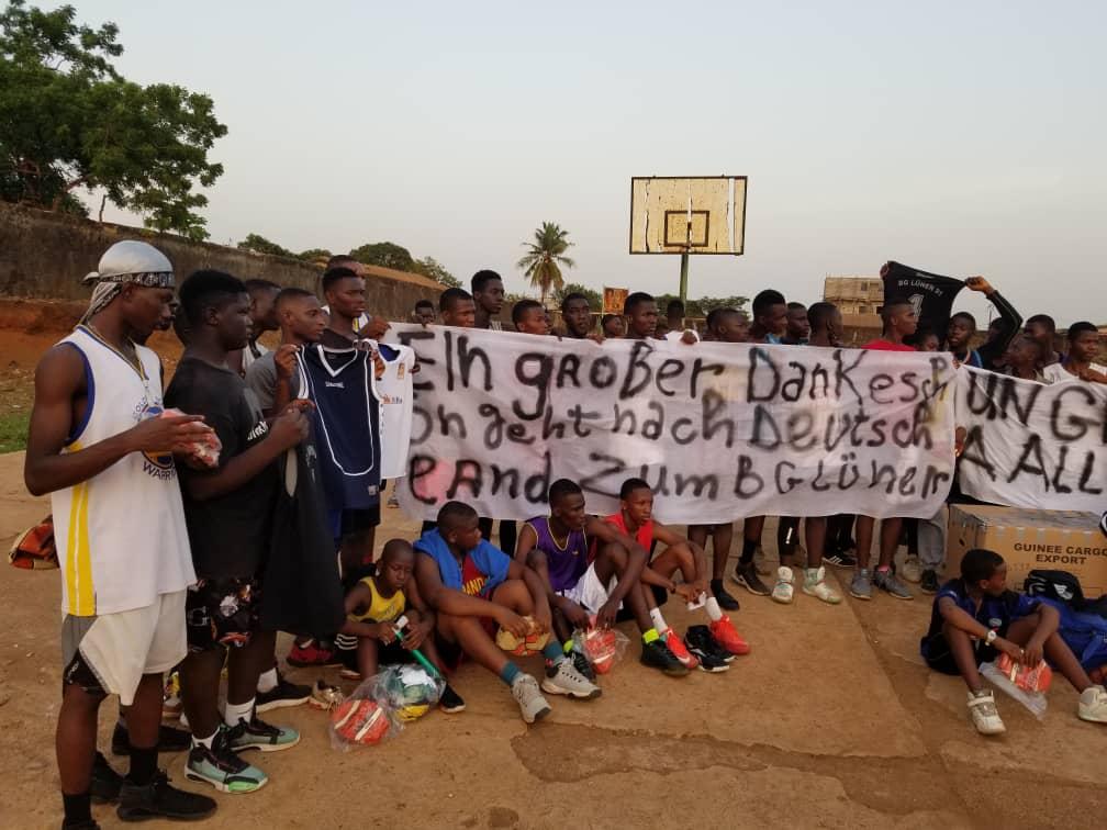 Spendenaktion an Basket Club Matoto